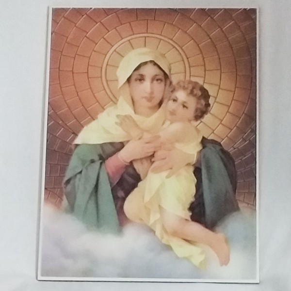 Azulejo com imagem da Mãe Rainha