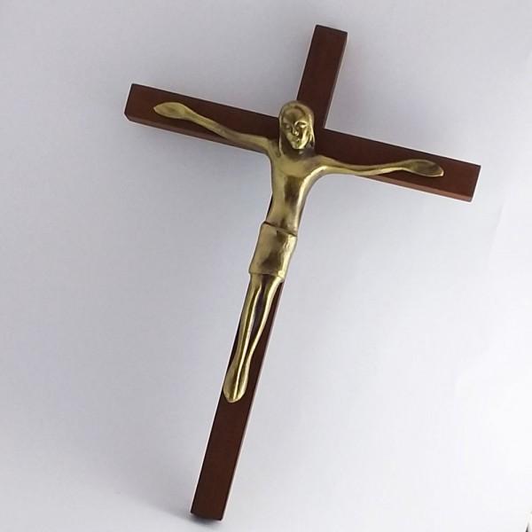 Cruz Estilizada (Com fundo de madeira 28 cm)