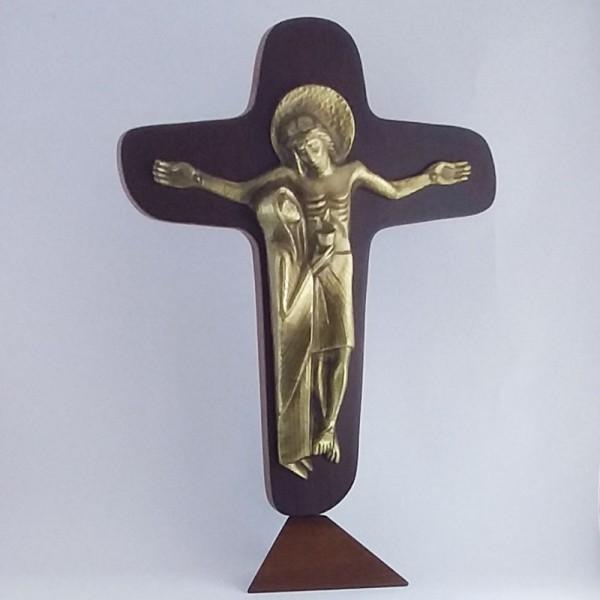 Cruz da Unidade de mesa (Com fundo de madeira-32cm)