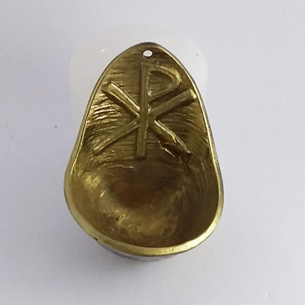 Pia de água benta PAX (Bronze-8cm)